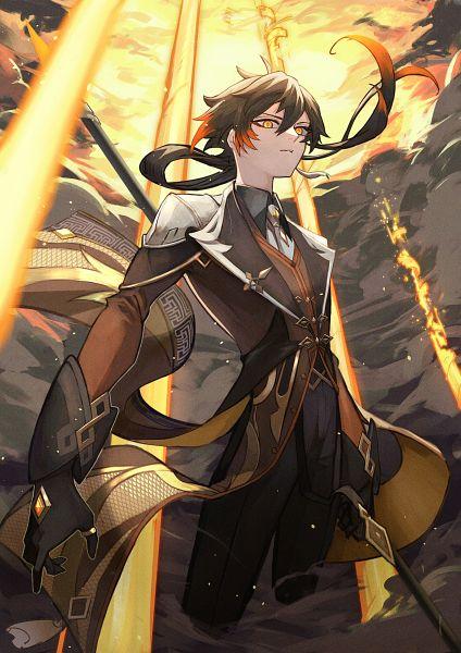 Tags: Anime, Pixiv Id 67141327, Genshin Impact, Zhongli, Fog