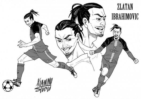 Tags: Anime, Xiannustudio, Zlatan Ibrahimović, Paris Saint Germain, deviantART, Sketch, Soccer Players