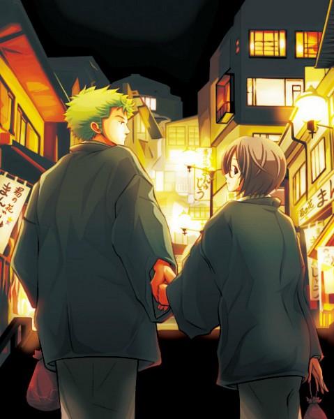 Tags: Anime, Kigisu, ONE PIECE, Roronoa Zoro, Tashigi, Pixiv, Fanart, Straw Hat Pirates, ZoShigi, The Eleven Supernovas