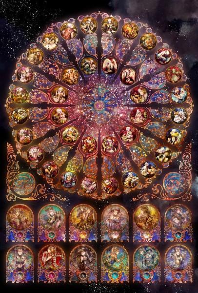 Tags: Anime, Radu, Art Nouveau, Zodiac (Personification), Constellation, Pixiv, Mobile Wallpaper