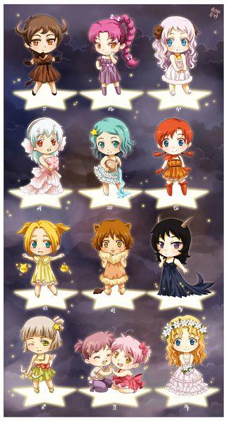 Tags: Anime, Meago, Scorpio, Virgo, Zodiac (Personification), Libra, Pisces, Leo (Zodiac), Cancer, Capricorn (Zodiac), Aquarius, Gemini, Aries