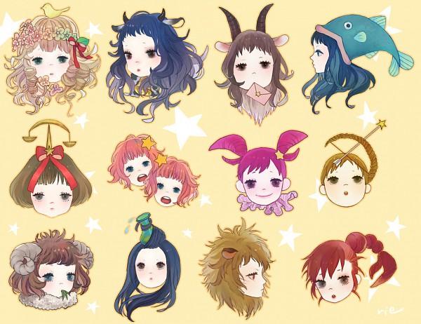 Tags: Anime, Sumishuu, Gemini, Aries, Aquarius, Taurus, Ushimimi, Sagittarius, Libra, Virgo, Balance Scale, Cancer, Pisces