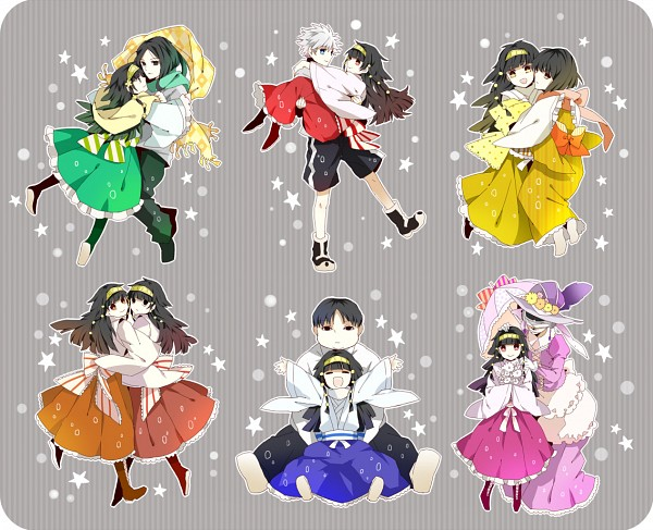 Tags: Anime, Unakura, Hunter x Hunter, Kalluto Zoldyck, Kikyo Zoldyck, Nanika, Milluki Zoldyck, Killua Zoldyck, Alluka Zoldyck, Illumi Zoldyk, Fanart, Fanart From Pixiv, PNG Conversion
