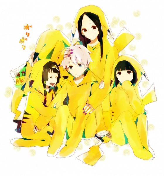 Tags: Anime, Yukimori Nene, Hunter x Hunter, Milluki Zoldyck, Killua Zoldyck, Illumi Zoldyk, Alluka Zoldyck, Kalluto Zoldyck, Pikachu (Cosplay), Pixiv, Fanart, Zoldyck Family