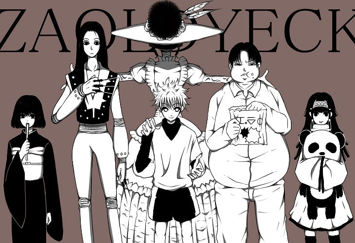 Tags: Anime, Yuu (Pixiv1160016), Hunter x Hunter, Kikyo Zoldyck, Killua Zoldyck, Milluki Zoldyck, Illumi Zoldyk, Alluka Zoldyck, Kalluto Zoldyck, Pixiv, Fanart, Zoldyck Family