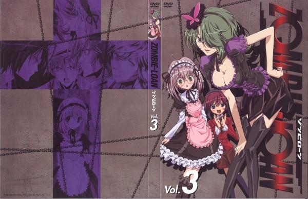 Tags: Anime, PEACH-PIT, Zombie-Loan, Shiba Reiichirou, Yuuta, Kita Michiru, Yomi (Zombie-loan), Official Art, DVD (Source)