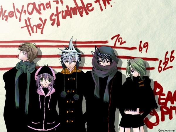 Tags: Anime, PEACH-PIT, Zombie-Loan, Yomi (Zombie-loan), Kita Michiru, Yoitsuhara Koyomi, Akatsuki Chika, Shiba Reiichirou, Tachibana Shito, Official Art