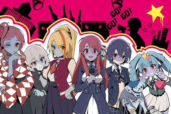 Tags: Anime, Pixiv Id 21175893, Zombieland Saga, Nikaidou Saki, Hoshikawa Lily, Minamoto Sakura, Yuugiri (Zombieland Saga), Yamada Tae, Konno Junko, Mizuno Ai