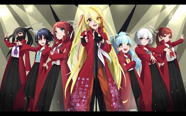 Tags: Anime, Pixiv Id 17382819, Zombieland Saga, Yuugiri (Zombieland Saga), Yamada Tae, Konno Junko, Mizuno Ai, Nikaidou Saki, Hoshikawa Lily, Minamoto Sakura