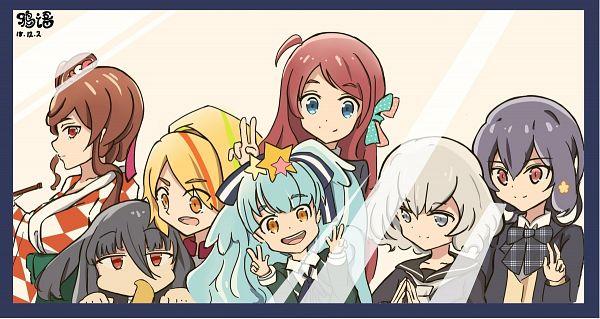 Tags: Anime, Pixiv Id 13772815, Zombieland Saga, Yuugiri (Zombieland Saga), Yamada Tae, Konno Junko, Mizuno Ai, Nikaidou Saki, Hoshikawa Lily, Minamoto Sakura, Squid