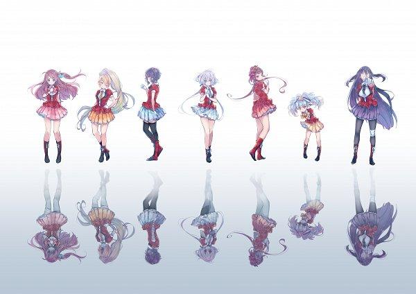 Tags: Anime, Pixiv Id 27595138, Zombieland Saga, Yuugiri (Zombieland Saga), Yamada Tae, Konno Junko, Mizuno Ai, Nikaidou Saki, Hoshikawa Lily, Minamoto Sakura