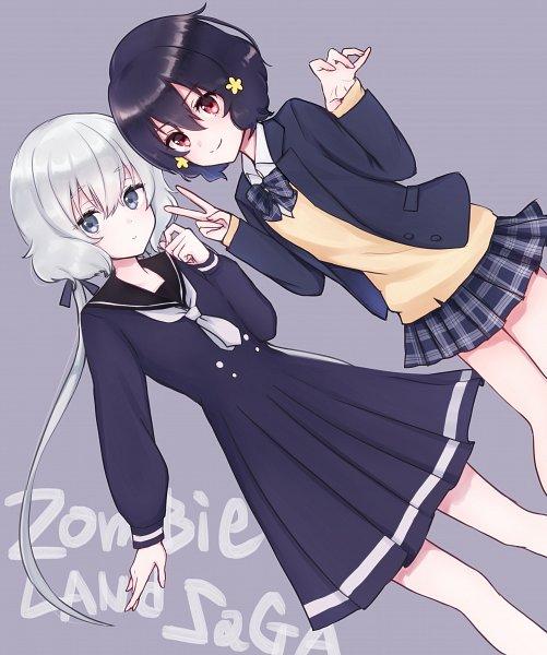 Tags: Anime, Pixiv Id 4279322, Zombieland Saga, Konno Junko, Mizuno Ai, Pixiv, Fanart, Fanart From Pixiv