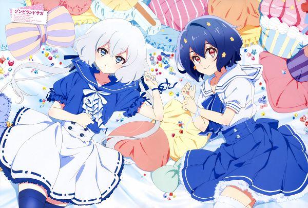 Tags: Anime, MAPPA, Zombieland Saga, Konno Junko, Mizuno Ai, Official Art, Animage, Magazine (Source), Scan
