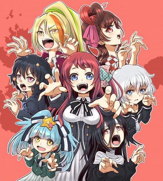 Tags: Anime, Pixiv Id 5450094, Zombieland Saga, Konno Junko, Mizuno Ai, Nikaidou Saki, Hoshikawa Lily, Minamoto Sakura, Yuugiri (Zombieland Saga), Yamada Tae, Fanart From Pixiv, Pixiv, Fanart