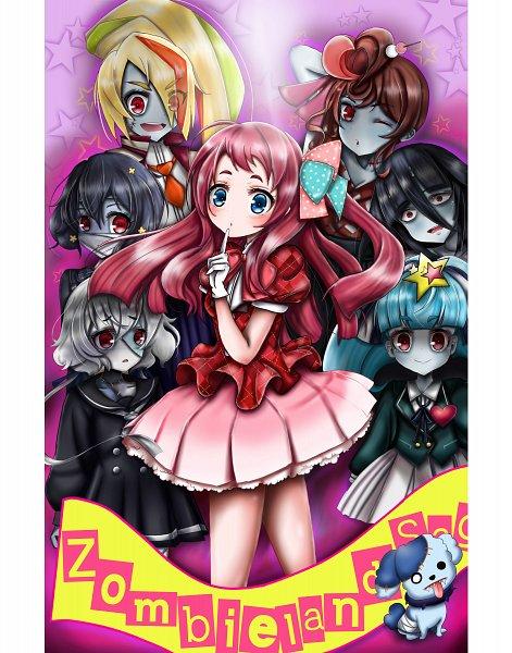 Tags: Anime, Pixiv Id 17466392, Zombieland Saga, Yamada Tae, Mizuno Ai, Nikaidou Saki, Hoshikawa Lily, Minamoto Sakura, Yuugiri (Zombieland Saga), Romero, Konno Junko, Fanart, Fanart From Pixiv