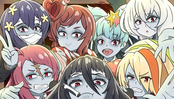Tags: Anime, Pixiv Id 32182411, Zombieland Saga, Mizuno Ai, Nikaidou Saki, Hoshikawa Lily, Minamoto Sakura, Yuugiri (Zombieland Saga), Yamada Tae, Konno Junko, Fanart, Fanart From DeviantART, Fanart From Pixiv