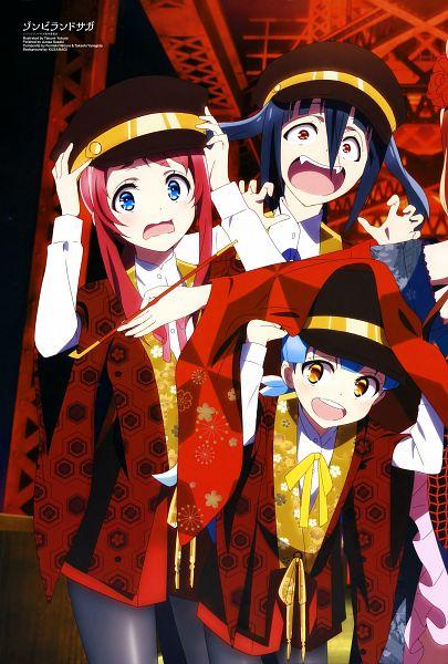 Tags: Anime, Yokota Takumi, MAPPA, Zombieland Saga, Zombieland Saga Revenge, Minamoto Sakura, Yamada Tae, Hoshikawa Lily, Official Art, Magazine (Source), Scan