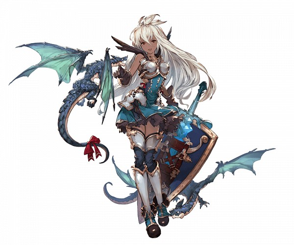Tags: Anime, Minaba Hideo, Cygames, Granblue Fantasy, Zooey, Official Art, Cover Image, PNG Conversion