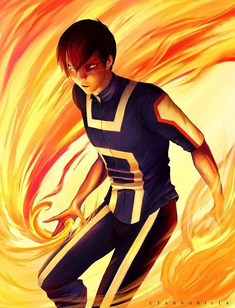 Tags: Anime, Cyangorilla, Avatar: The Last Airbender, Zuko, Boku no Hero Academia (Parody), Burnt, Fanart, Twitter