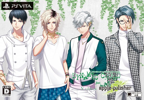 Tags: Anime, Fujiwara Ryo, Honeybee Black, DYNAMIC CHORD, Kurosawa Shinobu, Amagi Narumi, Otoishi Yuusei, Aoi Yuki (DYNAMIC CHORD), Official Art, Game Cover, apple-polisher