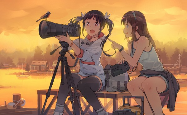 Tags: Anime, ddal, Binoculars, Pixiv, Original