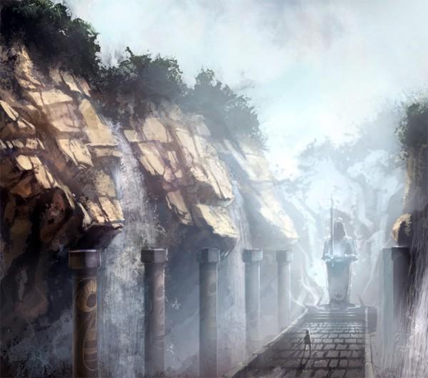 Tags: Anime, ddal, Waterfall, Pixiv, Original