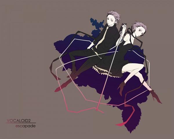 Tags: Anime, Uohoooo, VOCALOID, Kagamine Len, Kagamine Rin, 1000x800 Wallpaper, escapade (Song)