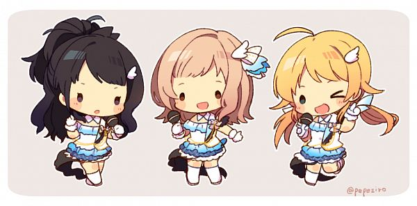Tags: Anime, Pixiv Id 1140280, The iDOLM@STER: Shiny Colors, Hachimiya Meguru, Kazano Hiori, Sakuragi Mano, illumination STARS
