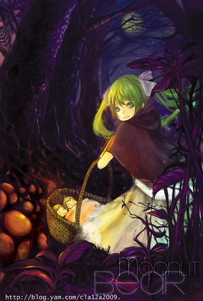 Tags: Anime, C P .Ieng, VOCALOID, Hatsune Miku, Akuno-p, Fanart, moonlit bear, Pixiv, Mobile Wallpaper