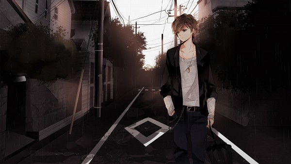 Tags: Anime, Hatsuko, that, Puddle, Chain Belt, Nico Nico Douga, Wallpaper, Facebook Cover, rain stops good-bye, Nico Nico Singer, Pixiv, HD Wallpaper