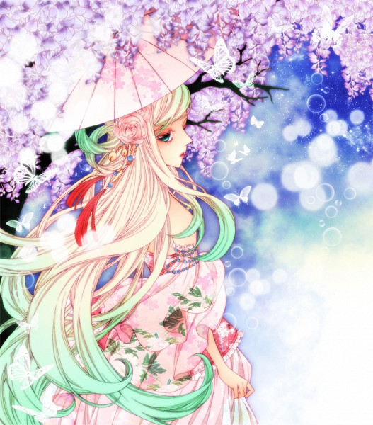 Tags: Anime, sizh, Wisteria, Pixiv, Original