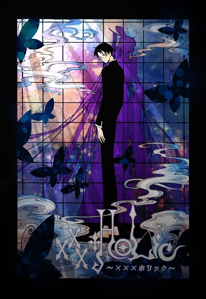 Tags: Anime, CLAMP, Pixiv Id 1816946, xxxHOLiC, Ichihara Yuuko, Watanuki Kimihiro, Colorization, Pixiv, Mobile Wallpaper