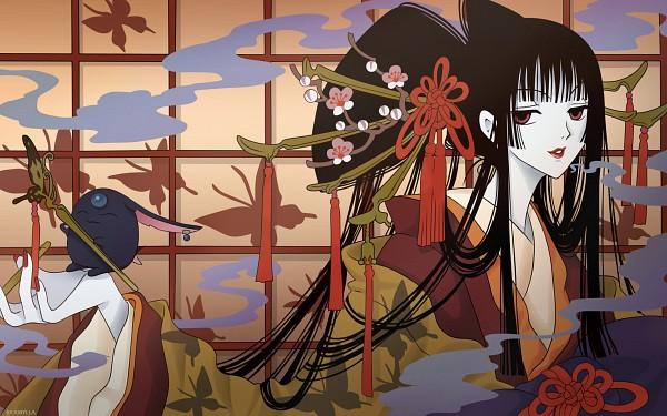 Tags: Anime, CLAMP, xxxHOLiC, Mokona Modoki (Black), Mokona Modoki, Ichihara Yuuko, 2560x1600 Wallpaper, HD Wallpaper, Fanmade Wallpaper, Edited, Wallpaper