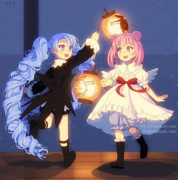 Tags: Anime, DAV-19, xxxHOLiC, Mokona Modoki (Black), Mokona Modoki, Moro-dashi, Maru-dashi, Frilled Socks, Paper Lantern, Fanart, Fanart From DeviantART, deviantART