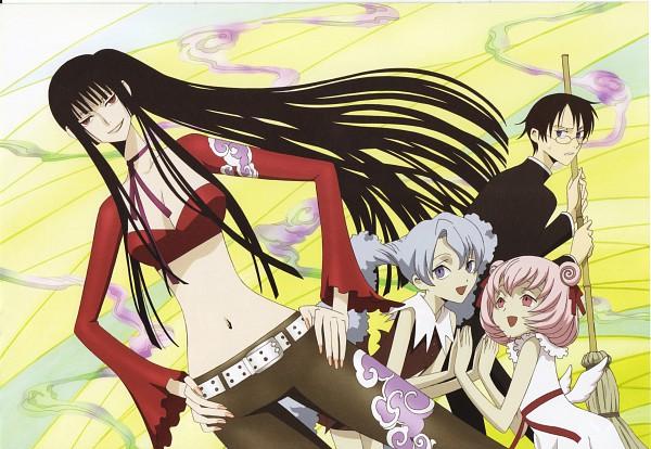Tags: Anime, xxxHOLiC, Watanuki Kimihiro, Ichihara Yuuko, Moro-dashi, Maru-dashi, Scan, Official Art